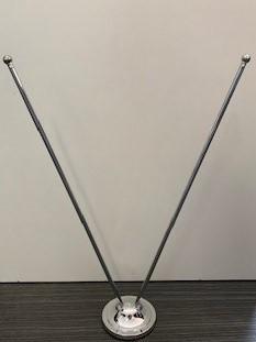 Tafelstandaard Chroom voor 2 tafelvlaggen