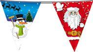 Kerst versiering vlaggenlijn vrolijk Kerstmis feest