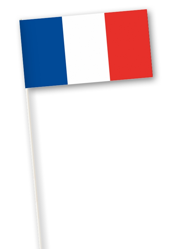 Zwaaivlag Frankrijk l Franse zwaaivlag 11x21cm