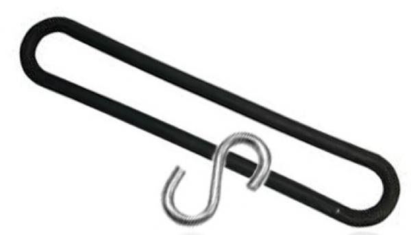 TIR spanrubber elastiek met S-haak 250mm