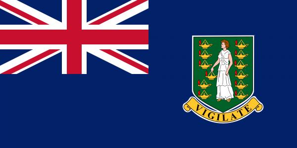Tafelvlag Britse Maagdeneilanden met standaard