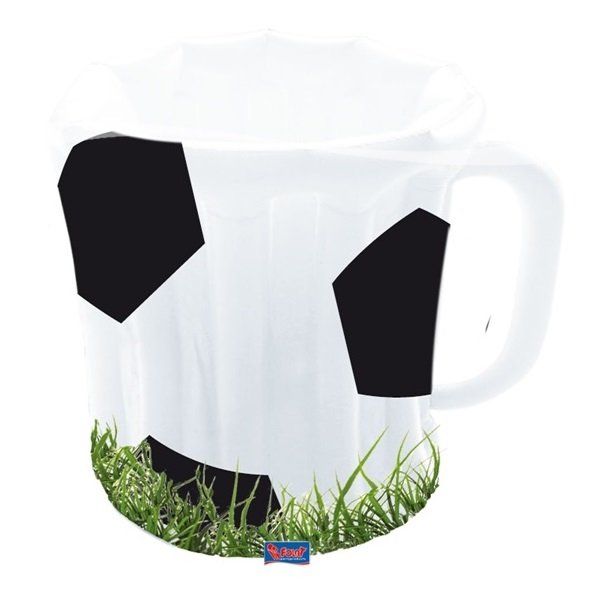 Opblaas bierpul cooler voetbalprint oranje WK | EK koningsdag