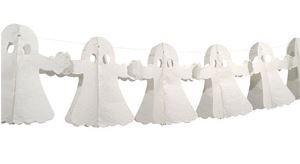 Papieren witte slinger Spoken Halloween 4 m
