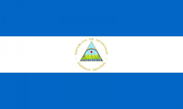 Vlag Nicaragua 100x150cm Glanspoly