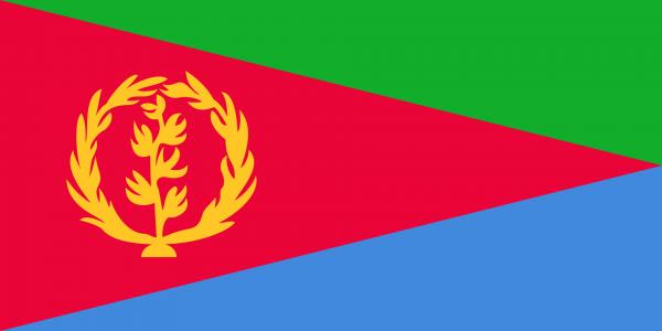 Vlag Eritrea 100x150cm Glanspoly