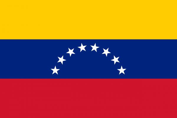 Tafelvlag Venezuela met standaard