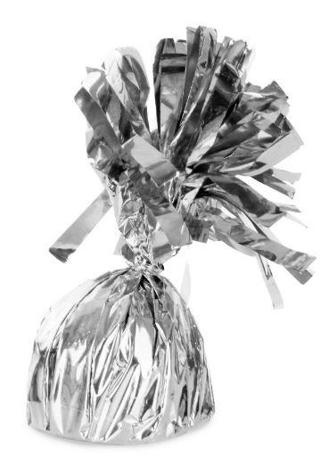 Ballonnen gewichtje Zilver 140g, doorsnede 6cm