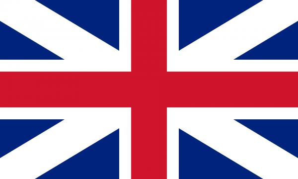 Tafelvlag Groot Brittannie met standaard
