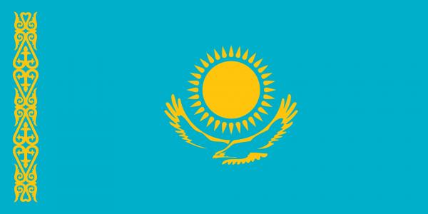 Vlag Kazachstan 100x150cm Glanspoly