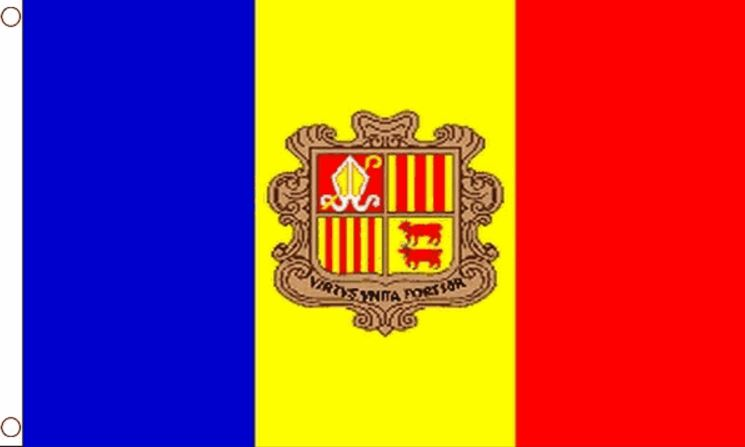 vlag Andorra met wapen 60x90cm Best Value