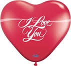 Love You Heart Ballon, per stuk te koop