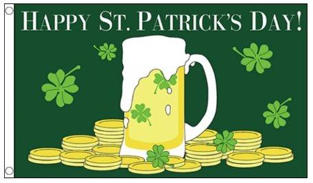 Vlag St. Patrick 90x150cm bier