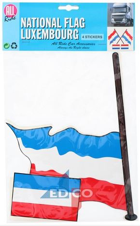 Stickers Luxemburgse vlag Luxemburg 4 stuks (2 varianten)