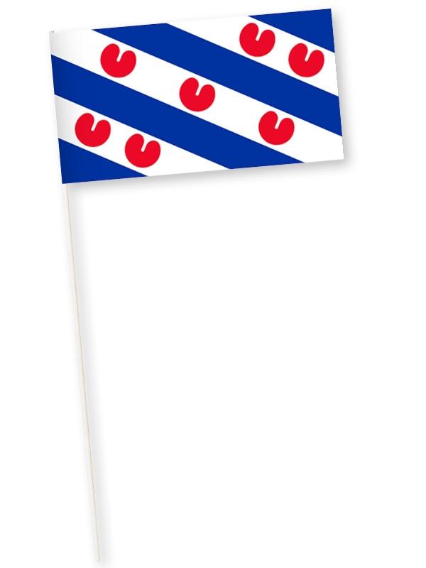 Zwaaivlag Friesland, Friese handvlag van stevige kwaliteit papier 11x21cm