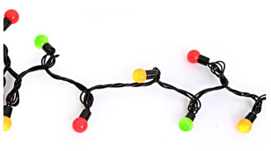 lichtsnoer 50 lampjes 6m rood/geel/groen