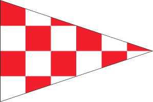 Puntvlag Noord Brabant Wimpel 30x45cm Brabantse Geus
