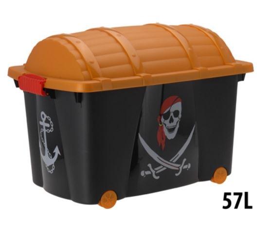 Piraten verkleedkist 60x40x42cm, 57 liter