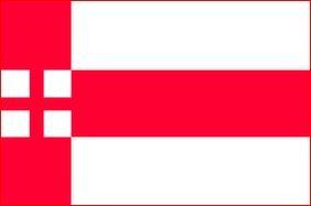 Vlag gemeente Amersfoort 70x100cm amersfoortse bootvlag