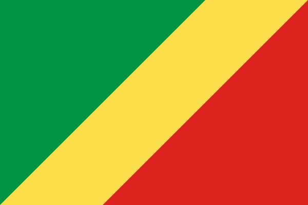 Vlag Congo-Brazzaville 100x150cm Glanspoly